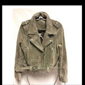 Blank NYC 100% Suede Moto Jacket w/ fringe - sz m